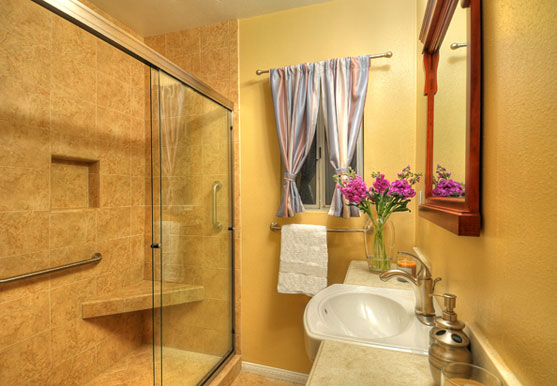 Bathroom remodel spotlight the cochrane project one week bath Small bathroom remodel for elderly