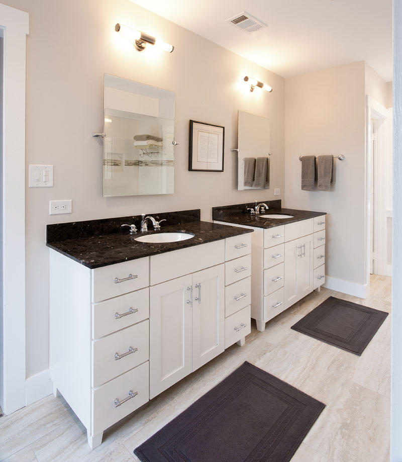 Pasadena bungalow gets updated with a modern master bath for 2 bathroom