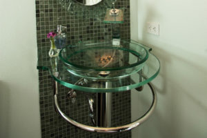 Four Elegant Glass Vessel Sinks