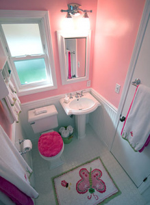 Bathroom Design #31 | Pink Childrens Bathroom