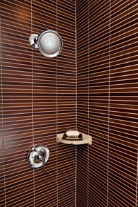 Office Bathroom | Horizontal Tile Shower