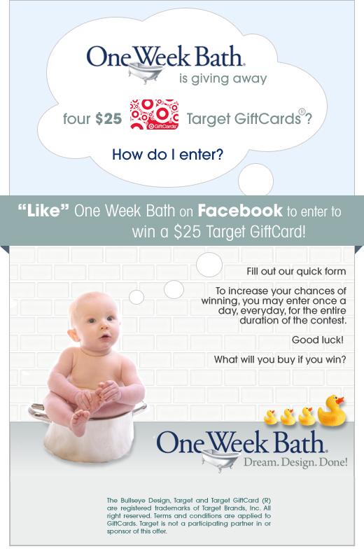 One Week Bath | Target GiftCard Sweepstakes