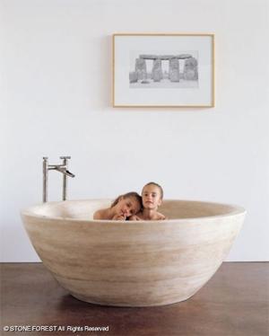 Stone Forest | Round Stone Bathtub
