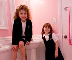 Meg's kids also get a new bathroom design remodel