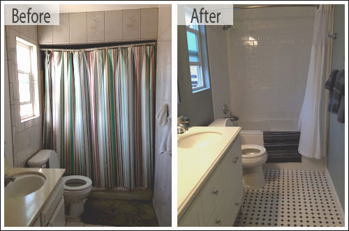 bathroom remodel spotlight: holly h - one week bath