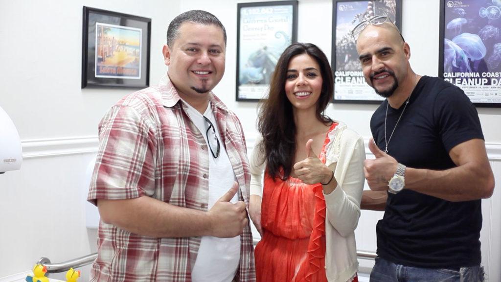 Julio Menjvar, Mitra Pakdaman, and Rudy Melgoza
