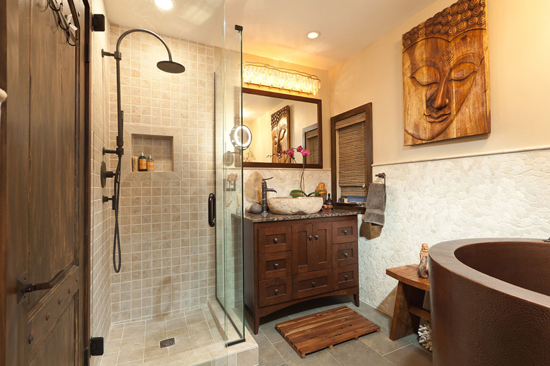 4 small bathroom vanities sherman oaks bathroom remodel for Asian small bathroom design
