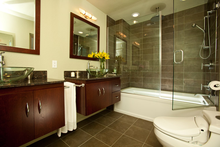 floating-vanity-wall-mounted-transitional-dark-cherry-wood-bathroom-design
